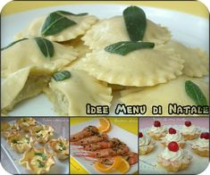 Idee menù di Natale Christmas Dishes, Christmas Time, Pizza, Dinner Dishes, Antipasto, Ravioli, Italian Recipes, Nutella, Holiday Recipes