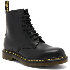 Dr. Martens 1460 8 Eye Leather Boots ($125) ❤ liked on Polyvore featuring men's fashion, men's shoes, men's boots, shoes, mens leather lace up boots, mens lace up shoes, mens leather boots, mens lace up boots and mens leather shoes