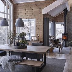 scandinavian cabin in the woods wood paneled modern chalet log home woods modern and cabin scandinavian wood cabins House Design, Interior, Living Room Warm, Home, Cabin Decor, House Interior, Scandinavian Cabin, Living Room Wood, Rustic House