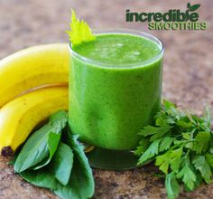 Pineapple-Celery Green Smoothie Recipe with Dandelion and Parsley - Incredible Smoothies