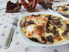 Crespelle ai funghi - Il blog di Masly Pasta Al Pesto, Cauliflower, Pancakes, Vegetables, Buffet, Blog, Kitchen, Italian Recipes, Oven