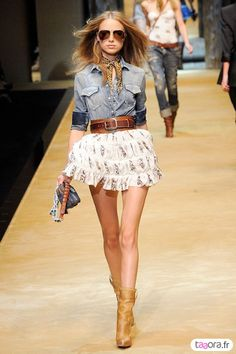 Western meets runway fashion