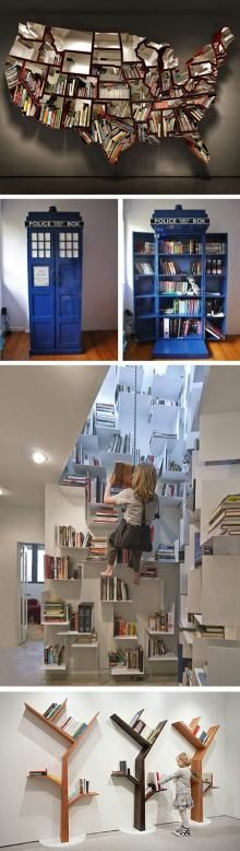 32 Cool and Creative Bookshelves That Geeks Would Love - TechEBlog
