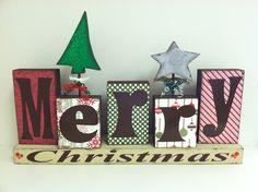 Merry Christmas - Holiday Unfinished Wood Crafts