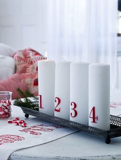 Advent Candles from Nordic House. - these shouldn't be too hard to make, right?