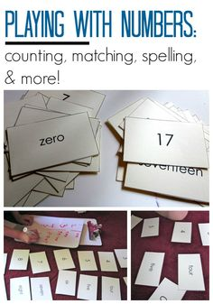 Playing With Numbers - counting, matching, spelling, and more - includes FREE PRINTABLE - preschool through first grade