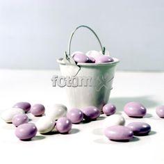 Portaconfetti secchielli - Ideali per contenere i confetti al tavolo, o come contenitore di riso, petali, etc.. | Fotomox