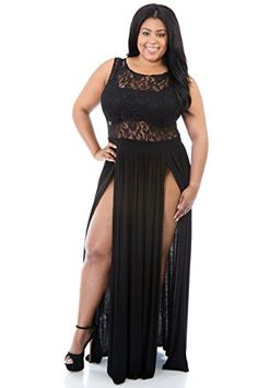 4844ee651a6fd online shopping for Flyfar Sexy Plus Size Reign Maxi Dress Slit Cocktai  Party Dress SizeXXL from top store. See new offer for Flyfar Sexy Plus Size  Reign ...