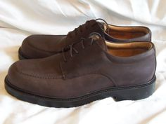 Clarks Active Air Shoes 9 Medium Brown Leather Italian Made Waterproof #ClarksActiveAir #Oxfords