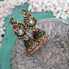 Gold Jewelry parampariya silver jewellery - Hard to resist their beauty! Indian Jewelry Earrings, Silver Jewellery Indian, India Jewelry, Silver Earrings, Silver Ring, 925 Silver, Silver Bracelets, Jewellery Bracelets, Jewellery Shops