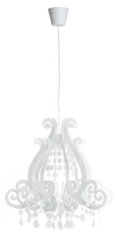 Barock vit 45cm taklampa