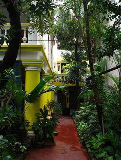 Maison coloniale à Pondichery en Inde, un voyage magnifique avec Inde en liberté