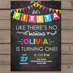 Fiesta Invitation Fiesta birthday party door Anietillustration