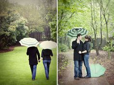 could be cute do a bunch inside then out in the rain... if it is in fact going to rain..