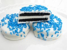 Blue Oreos - 1 Dozen (12) Cookies Candy Baby Shower Hanukkah Birthday Party Favors Sweets Gifts Treats