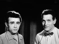 """Screen test for """"East of Eden"""" James Dean and Paul Newman. American Idol, American Actors, Classic Hollywood, Old Hollywood, James Dean Photos, Jimmy Dean, East Of Eden, Actor Studio, Perfect People"""