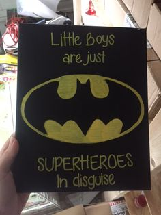 Little Boys are just superhero in disguise.