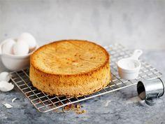 Helpoin tapa tehdä gluteeniton kakkupohja on käyttää vehnäjauhojen tilalla perunajauhoja, sillä niitä on usein kotona valmiina. Kakkupohjasta tulee hyvin ilmava ja kuohkea ja sen kostutukseen tarvitaan n. 1/3 vähemmän nestettä kuin peristeisen sokerikakkupohjan.