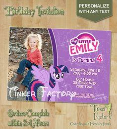 My Little Pony Twilight Sparkle Birthday Party by TinkerFactory