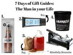 7 Days Of Gift Guides Day 5: 5 gifts for less than $50 for the men in your life: http://blissfullybrunette.com/?p=5345