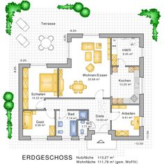 bungalow grundriss - Google-Suche | Floor Plans | Pinterest | Haus ...