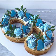 Number Birthday Cakes, Cookie Cake Birthday, Number Cakes, Birthday Cake Decorating, First Birthday Cakes, Birthday Cake Toppers, Cookie Decorating, Cake Cookies, Cupcake Cakes