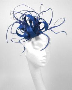 Royal Blue Fascinator Kentucky Derby or Wedding by Hatsbycressida
