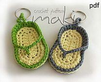 Ravelry: FREE CROCHET PATTERN! Key chain flip-flop pattern by Maja Masar