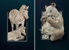 Beautiful Paper Sculptures by Calvin Nicholls - such a hard chose on which to pin, you must go visit this page !