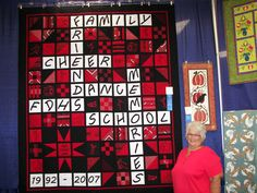 Remembering Kayla Quilt.  Great idea for a special quilt!