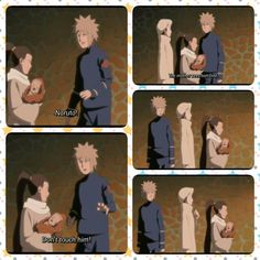 Biwako, Minato, Naruto, baby, funny, text, quote; Photo Collages