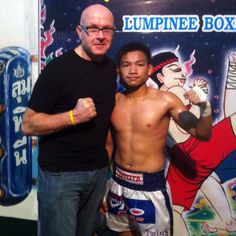 Me and fight winner @ Lumpinni boxing arena in Bangkok