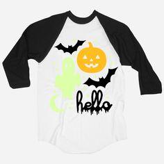 Helloween (Adult & Kids) Glow In The Dark 3/4 Sleeve Raglan #pinsavvy #halloween