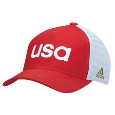 05e91aa300198 USA Golf adidas Flex Hat - Red