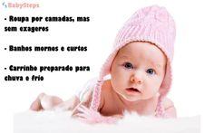 #Roupa #babysteps #infográficos #roupas #bebé #quente #frio #confortável #banho