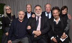 Diane Keaton, Robert DeNiro, Robert Duvall, Francis Ford Coppola, James Caan, Al Pacino and Talia Shire at Radio City Music Hall.