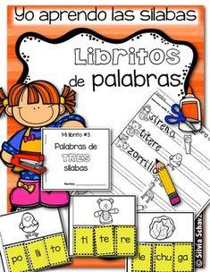 Yo aprendo las sílabas - Libritos de palabras de TRES sílabas Bilingual Centers, Bilingual Classroom, Classroom Labels, Bilingual Education, Spanish Classroom, Spanish Teaching Resources, Teaching Activities, Language Activities, Spanish Activities
