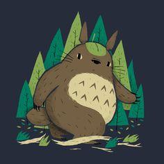 TOROFOOT T-Shirt $11 Totoro Bigfoot Mashup tee at TeeFury today only!