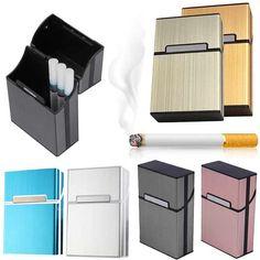 Leggera di Alluminio Cigar Portasigarette Sigari Tabacco Porta Pocket Box Storage Container TB Vendita
