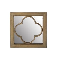 Bring life to your wall with this Privilege wood and metal mirror. You'll love the instant elegance this decorative piece adds to your home decor.