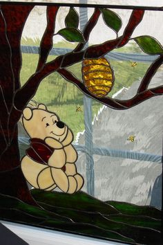 Pooh in deep honey thoughts
