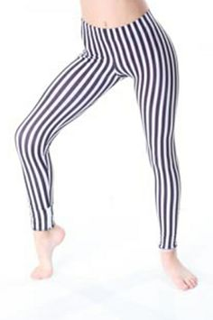 Sadie Jane Dancewear - Black and White Stripe Leggings , $29.00 (http://www.sadiejane.com/black-and-white-stripe-leggings/)