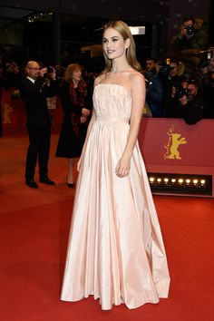 Lily James - 'Cinderella' Premiere - 65th Berlinale International Film Festival- I don't usually pin dresses and stuff… but I just LOVE this