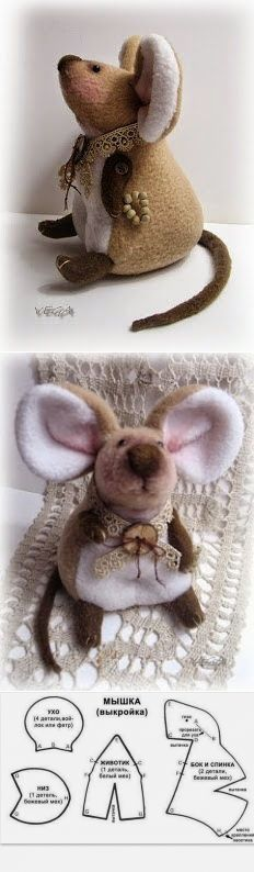 New Sewing Patterns Free Pdf Ideas Mouse Crafts, Felt Crafts, Sewing Patterns Free, Doll Patterns, Softies, Sewing Crafts, Sewing Projects, Felt Projects, Fabric Toys