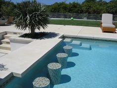 Malibu Residence - contemporary - pool - las vegas - Sage Design Studios, Inc. Pool Side Bar, Pool Bar, Swimming Pool Designs, Swimming Pools, Bar Tile, Las Vegas, Outdoor Pool, Outdoor Decor, Outdoor Spaces