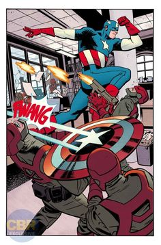 HOME OF THE BRAVE begins – and Steve Rogers is back in action in the red-white-and-blue! Steve begins a journey across America to restore his tarnished reputation – and the dangers he encounters along the way are unlike any he's faced before! Comic Book Artists, Comic Book Characters, Comic Artist, Comic Books Art, Fictional Characters, Marvel Comics Superheroes, Fun Comics, Marvel Art, Capitan America Comic