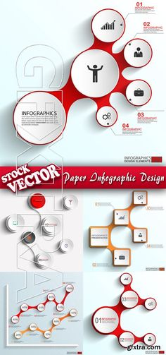 Stock Vector - Paper Infographic Design