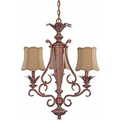 Island Cay 3-light Coral Reef Chandelier | Overstock.com Shopping - Great Deals on Nuvo Lighting Chandeliers & Pendants