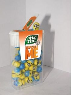 Minion Tic Tacs. No link, just photo (photoshopped?). But still pretty awesome.
