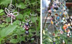 Gartendekorationen aus Perlen und Draht basteln